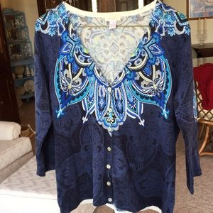 Chicos size 1 printed sweater